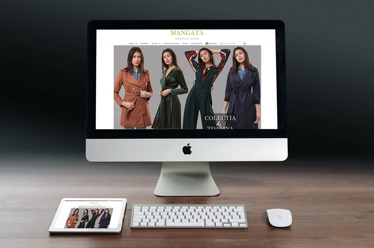 Realizare Site de Prezentare cu Magazin Online Rochii Elegante | Web Design si Fotografie de Produs Magazin Online Mangata Constanta | Fotografie Imagine